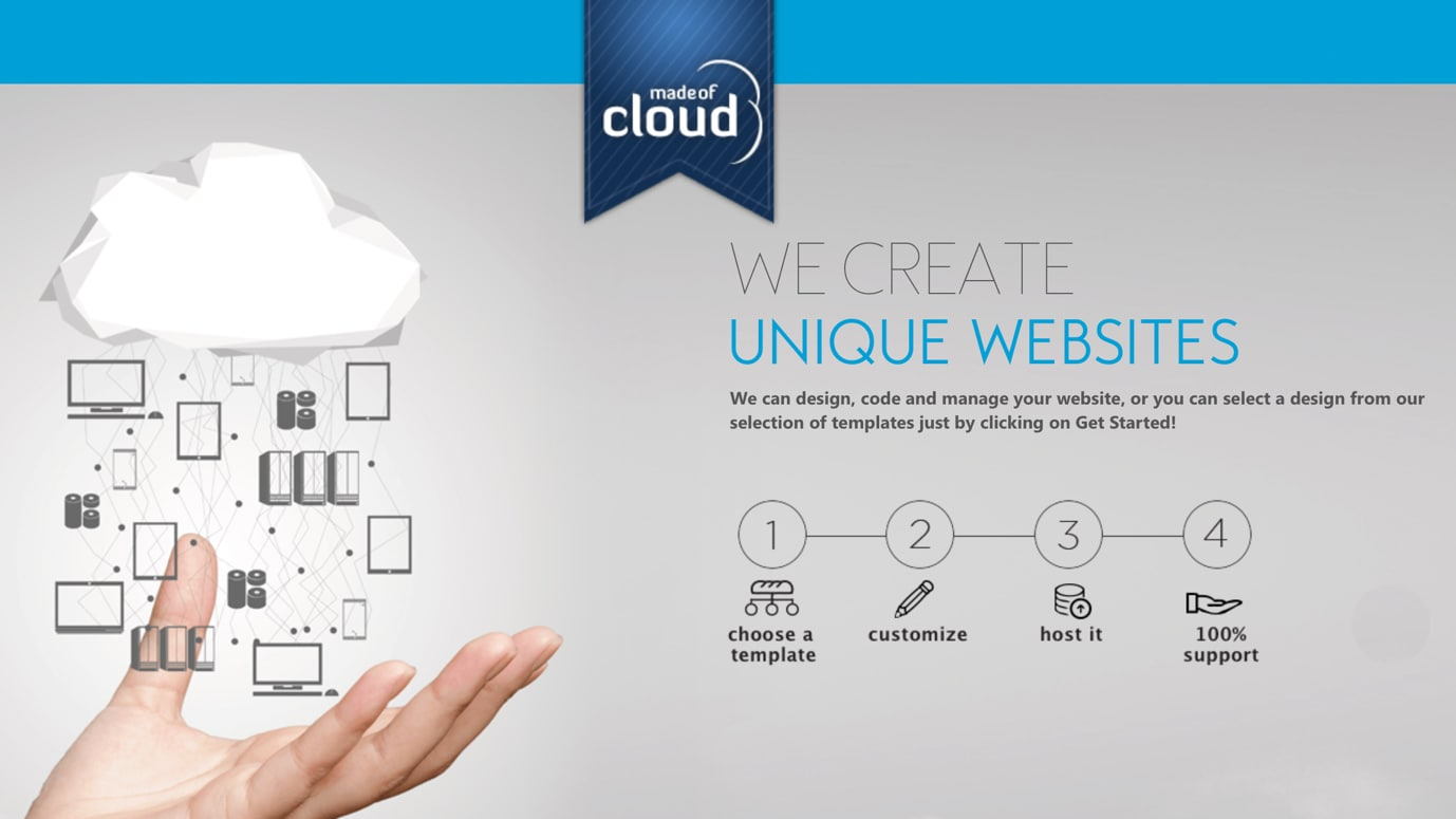 Made of Cloud website creation