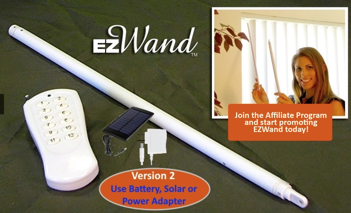 Electric Blinds by EZWand - Home Decor Affiliate Programs