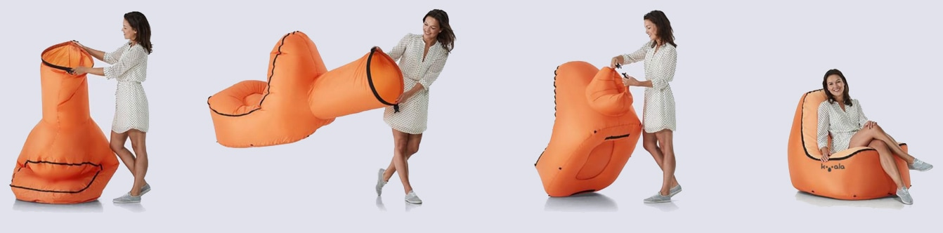 Orange Kooala Inflatable Chair