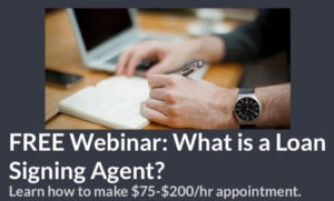Become a Loan Signing Agent
