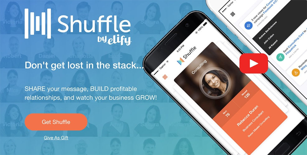 Shuffle by Elify (Virtual Business Card)