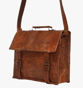 Brown Vintage Messenger Bag