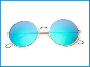 Blue shade Sunglasses - 80's Purple