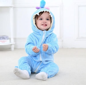 Baby's Blue Dino Onesie | Family Products