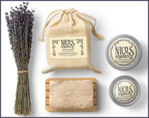 Body care products by Nico's Organics