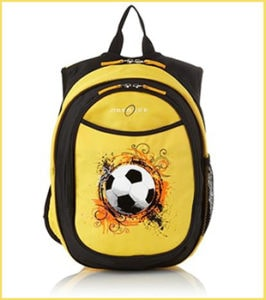 Yellow Backpack with Football Motif | Outdoor Gear