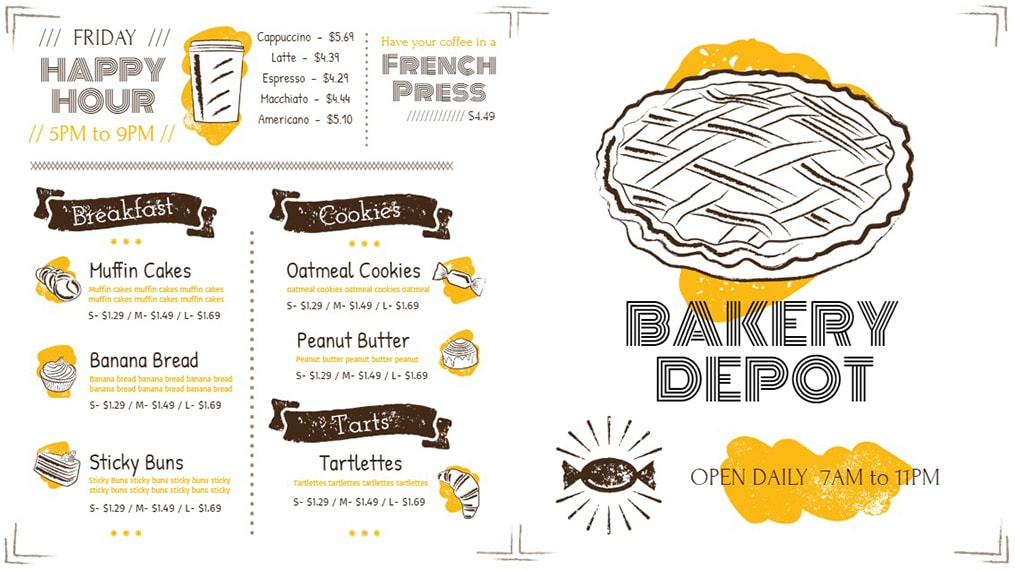 Bakery Depot - Signage Made with Mango Signs