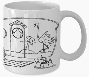 Famingo Mug Design - Copious Crafts