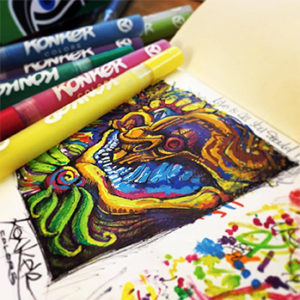 Vibrant Acrylic Paint Markers by Konker Colors | Arts & Crafts