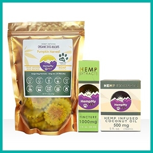Pet Products Derived from Hemp Extract