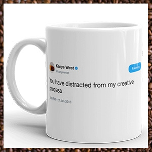 Celebrity Tweets on Your Mugs! -- TweetMugz