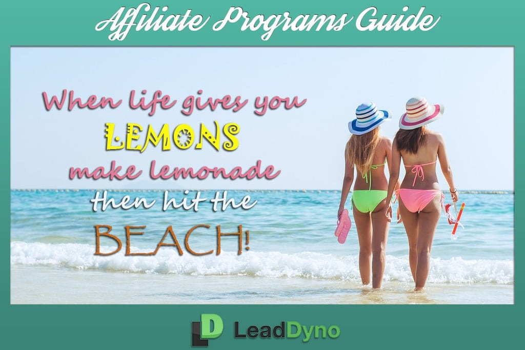 LeadDyno Swimwear Affiliate Programs + Beach Quote
