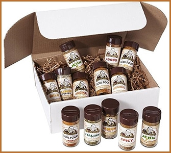Box Set of Organic Herbs and Spices