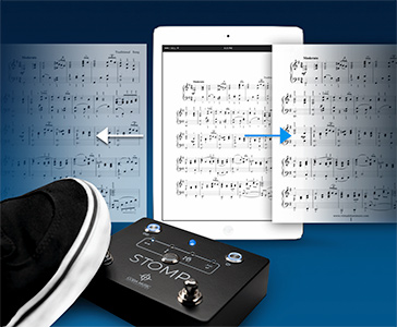 Hands-Free Page Turner for Music Sheets